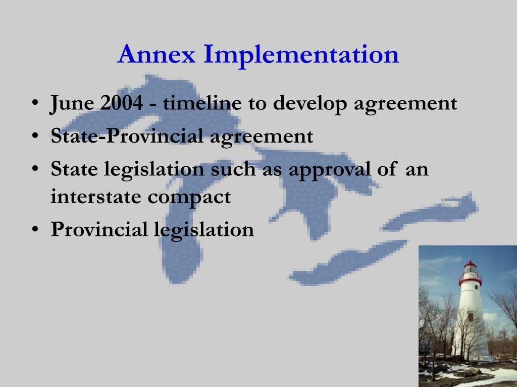 Annex Implementation