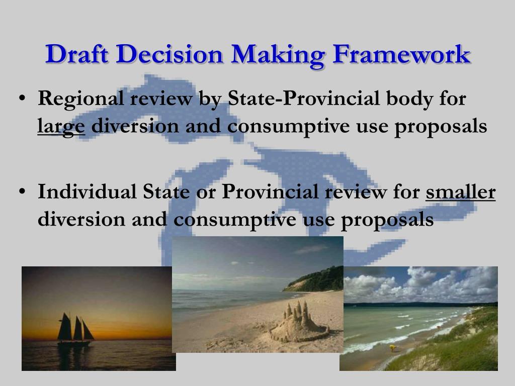 Draft Decision Making Framework