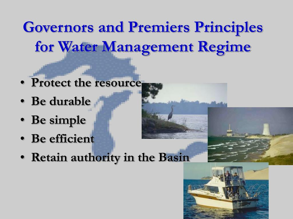 Governors and Premiers Principles for Water Management Regime