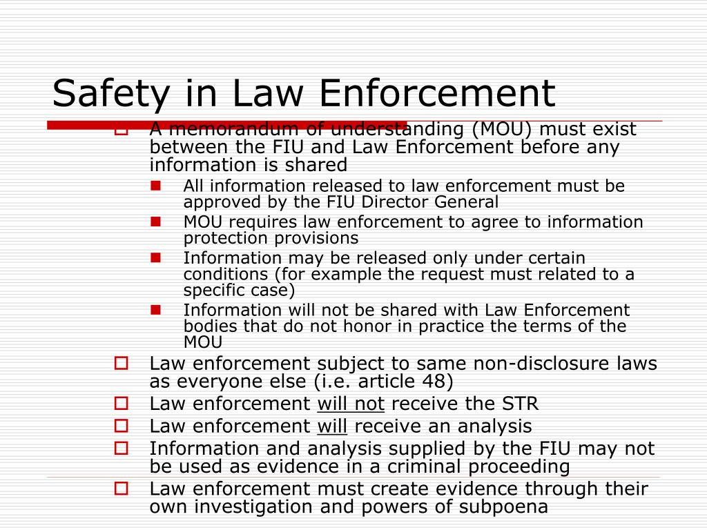 Safety in Law Enforcement