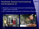 accelerator systems commissioning and acceptance 2