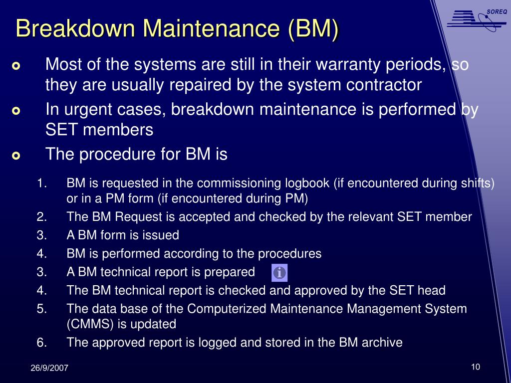 Breakdown Maintenance (BM)