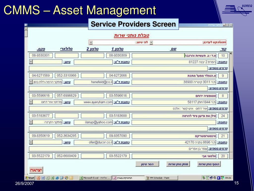 CMMS – Asset Management