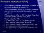 preventive maintenance pm