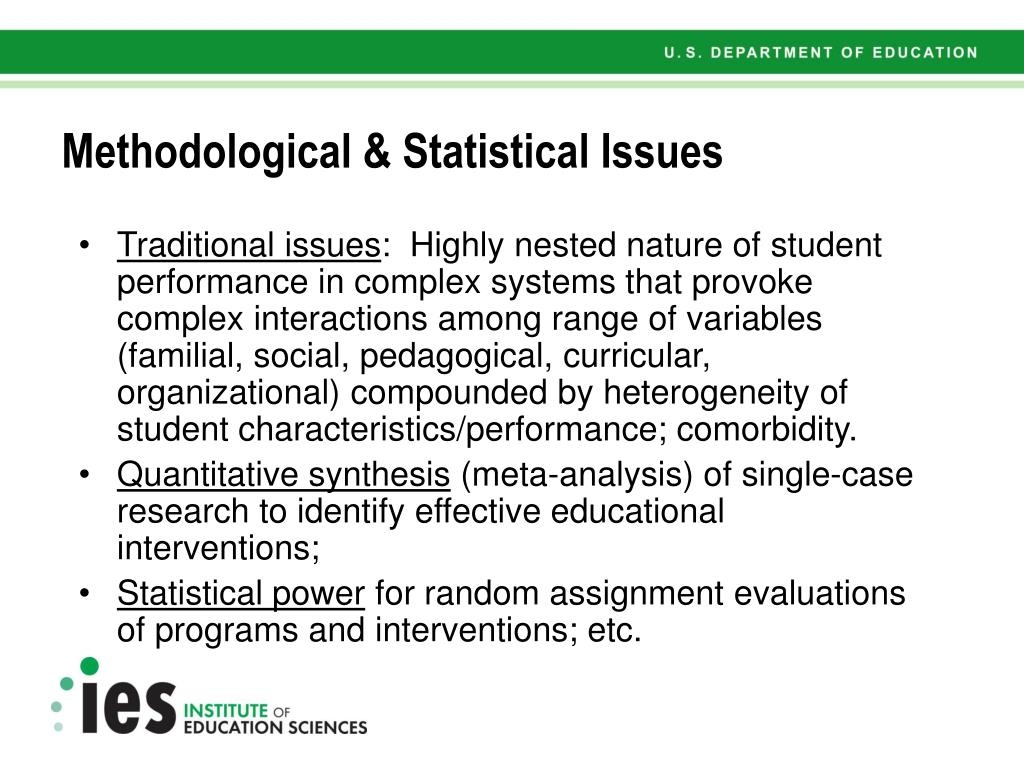 Methodological & Statistical Issues