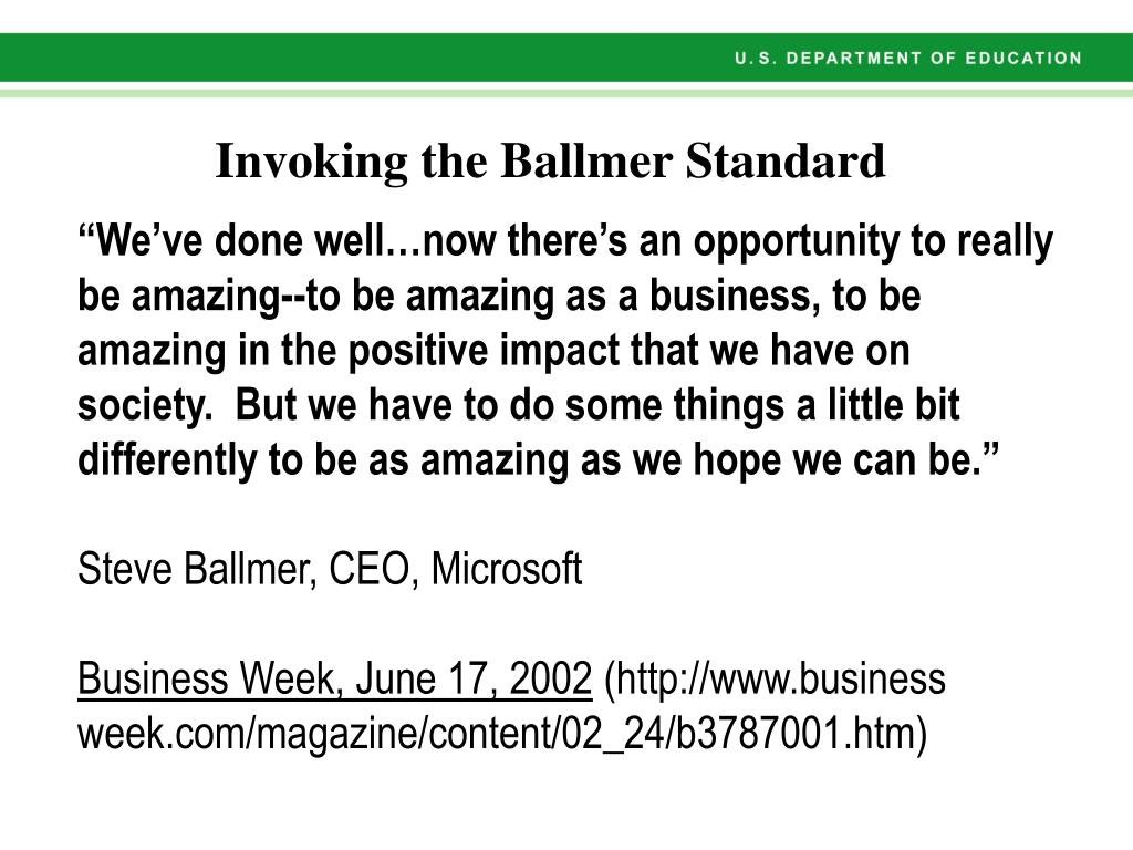 """""""We've done well…now there's an opportunity to really be amazing--to be amazing as a business, to be amazing in the positive impact that we have on society.  But we have to do some things a little bit differently to be as amazing as we hope we can be."""""""