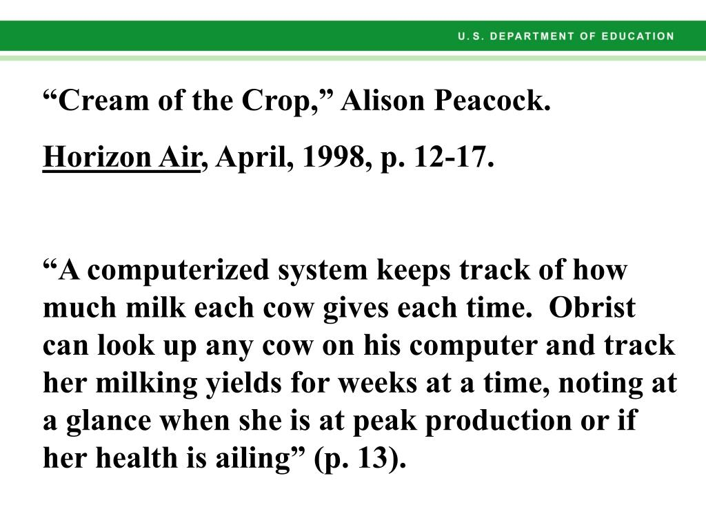 """Cream of the Crop,"" Alison Peacock."