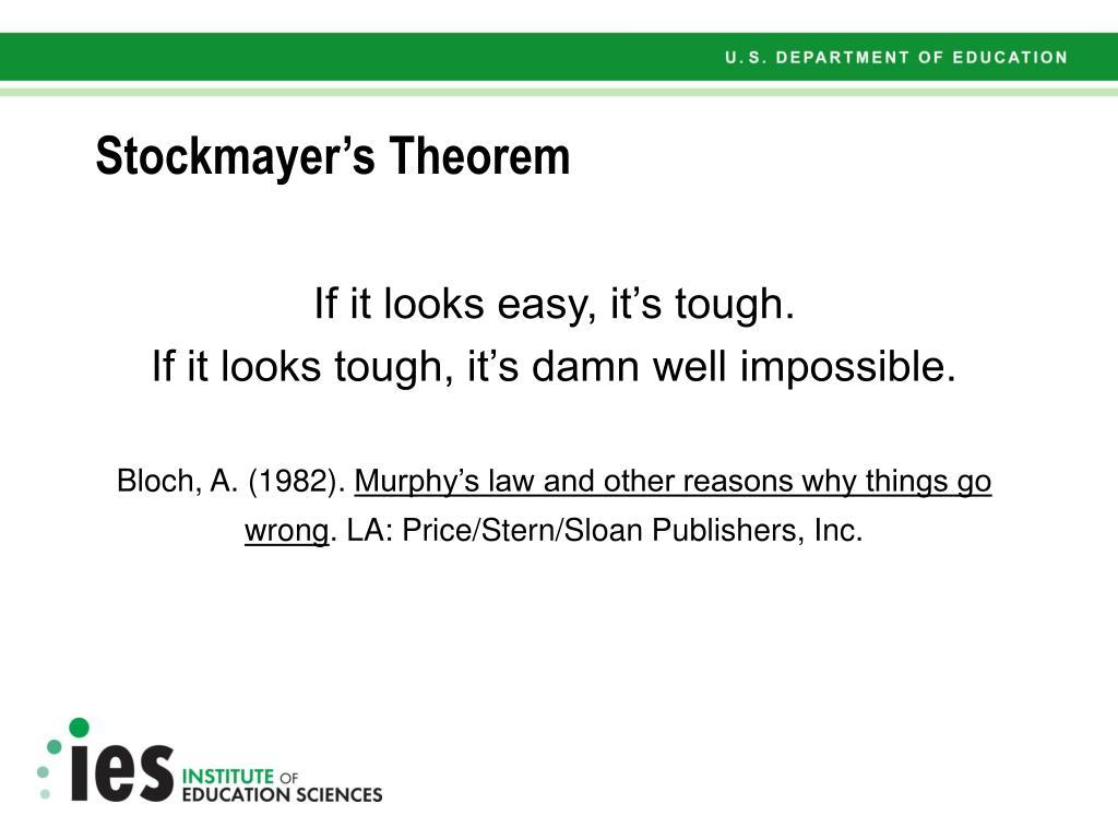 Stockmayer's Theorem