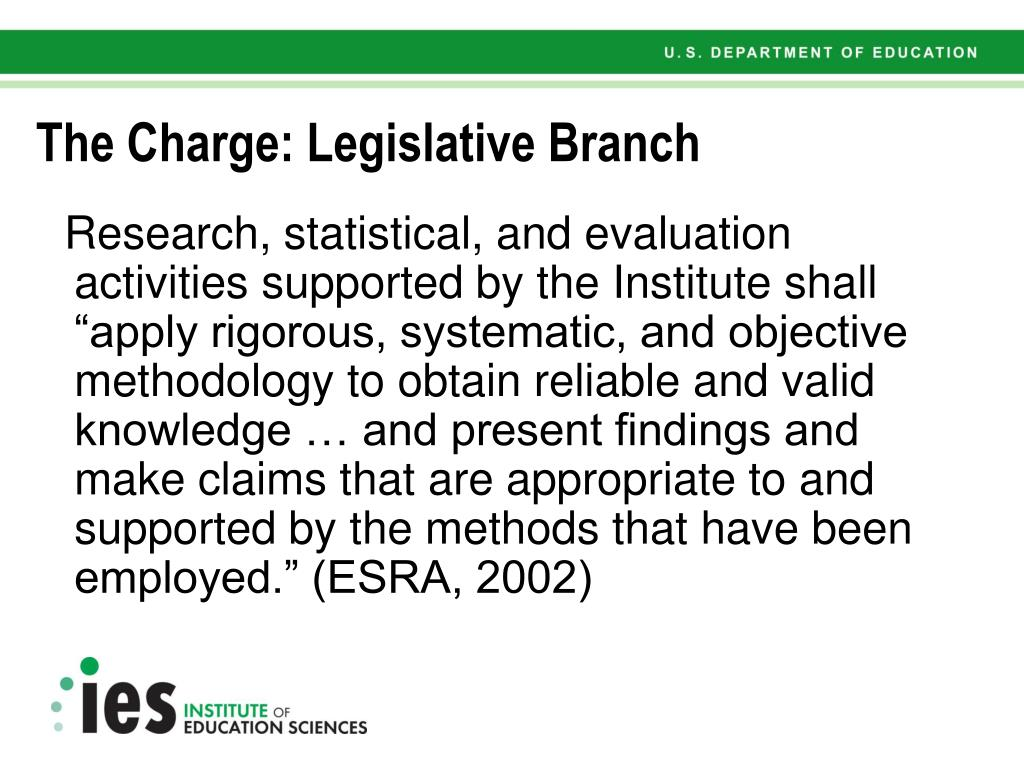 The Charge: Legislative Branch