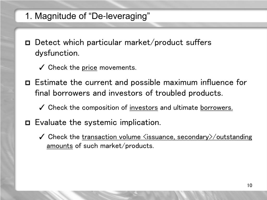 """1. Magnitude of """"De-leveraging"""""""