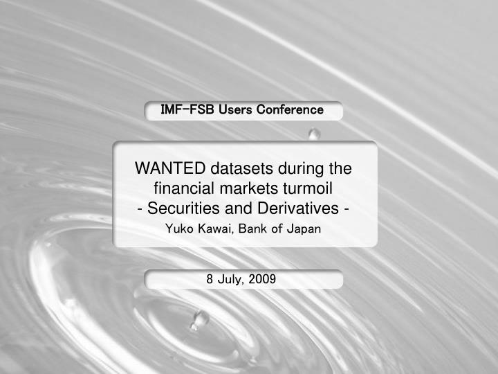Imf fsb users conference