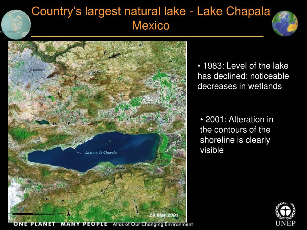 Country's largest natural lake - Lake Chapala