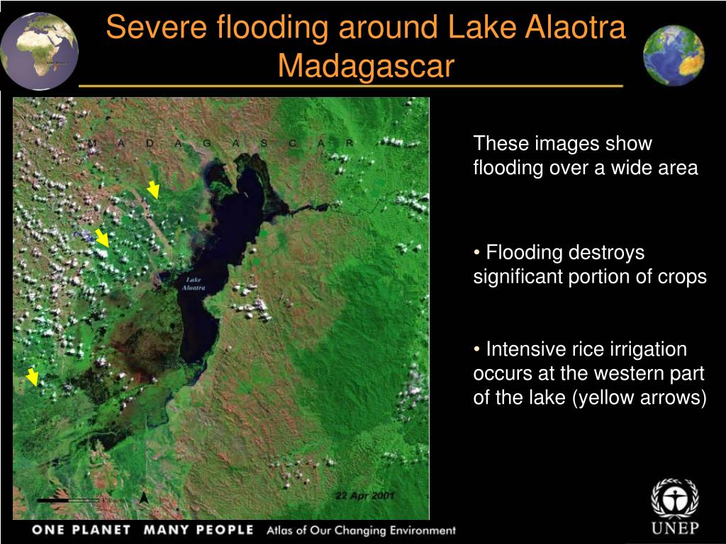 Severe flooding around Lake Alaotra