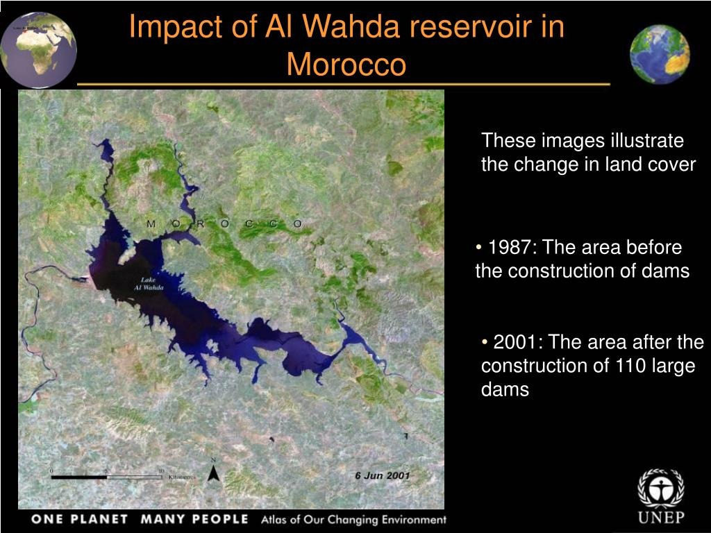 Impact of Al Wahda reservoir in Morocco