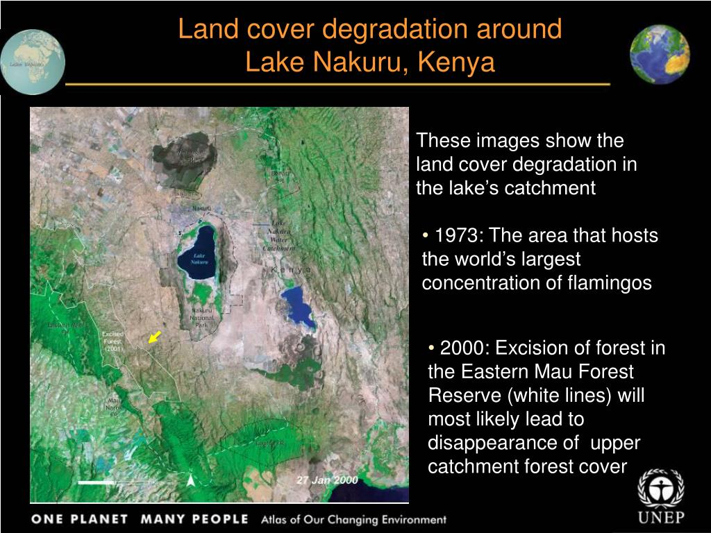 Land cover degradation around