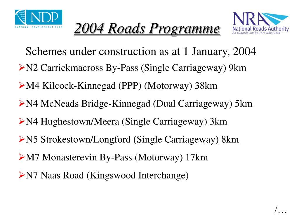 2004 Roads Programme
