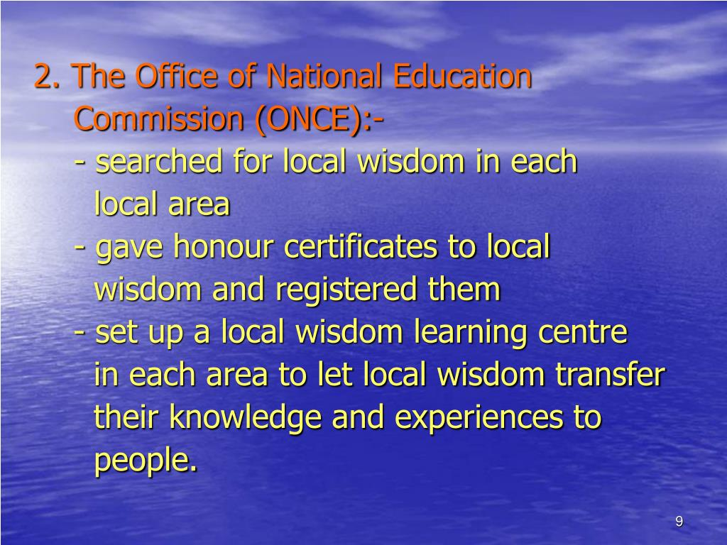 2. The Office of National Education