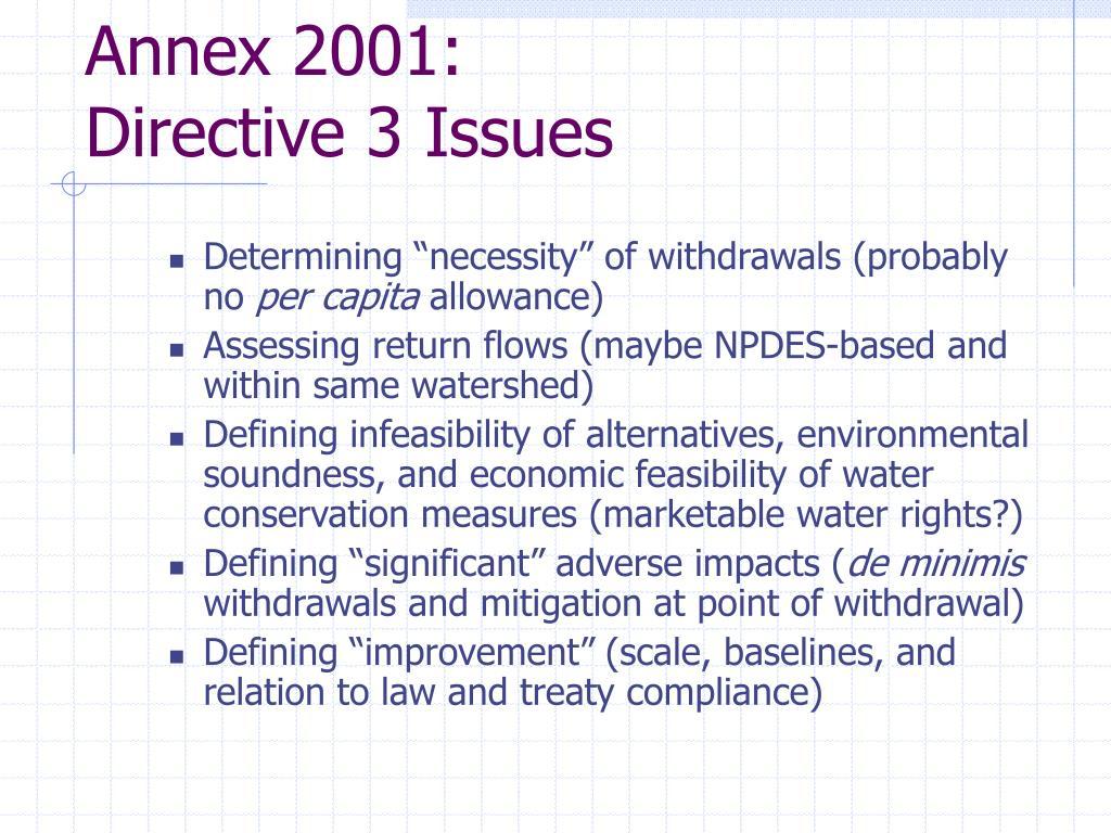 Annex 2001: