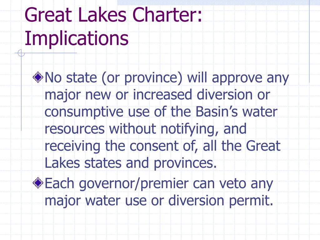 Great Lakes Charter: Implications