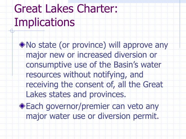 Great lakes charter implications l.jpg