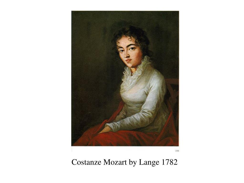 Costanze Mozart by Lange 1782