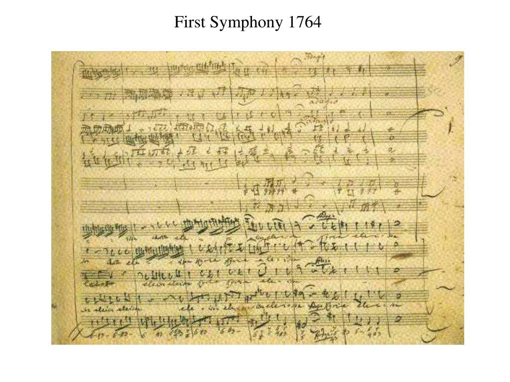 First Symphony 1764