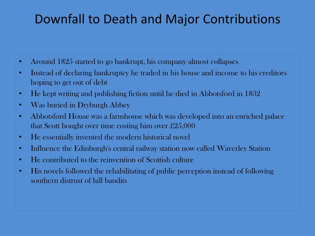 Downfall to Death and Major