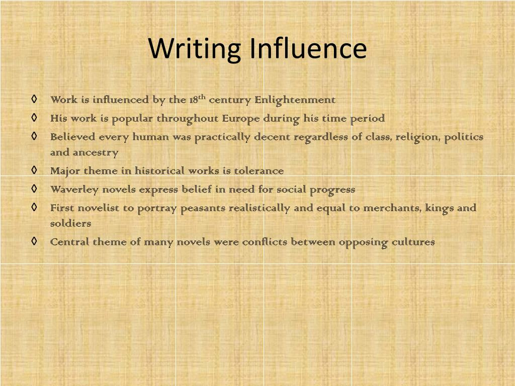 Writing Influence
