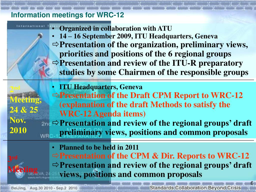 Information meetings for WRC-12