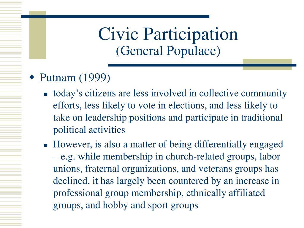 Civic Participation