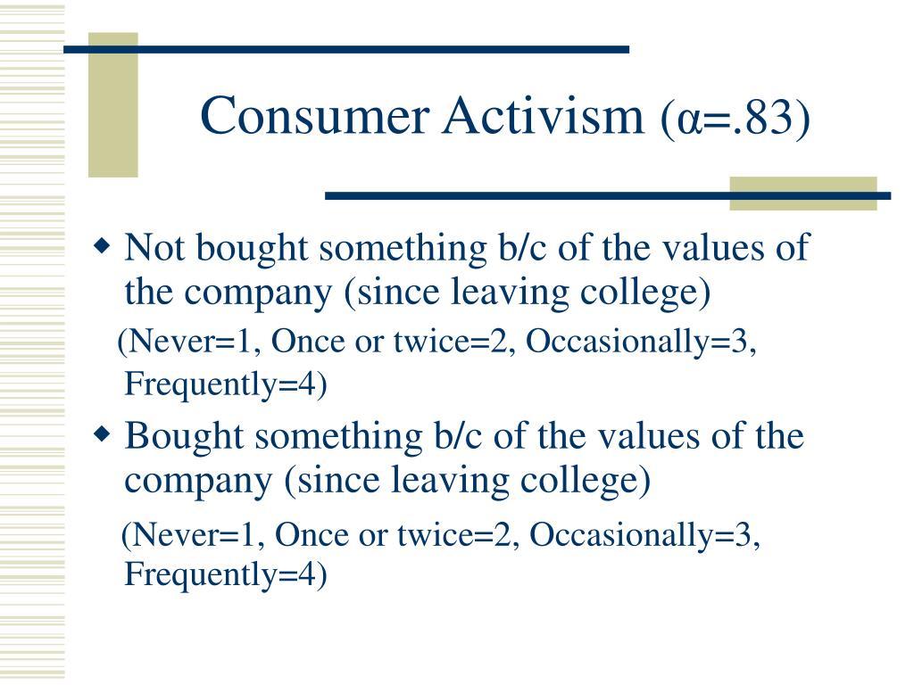 Consumer Activism
