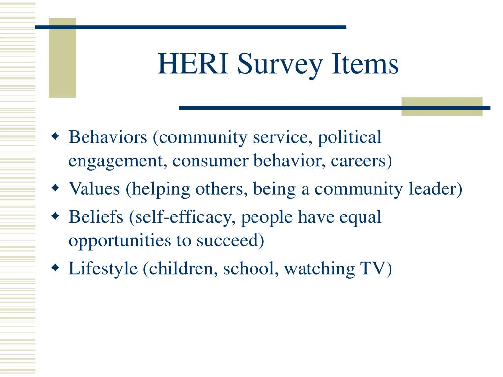 Behaviors (community service, political engagement, consumer behavior, careers)