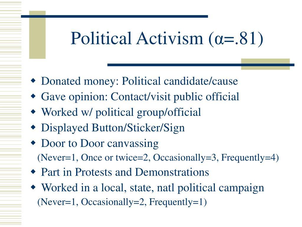 Political Activism (
