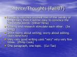 advice thoughts fall 0742