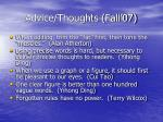 advice thoughts fall 0743
