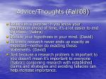 advice thoughts fall 0836