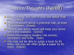 advice thoughts fall 0838