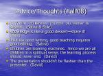 advice thoughts fall 0839