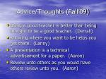 advice thoughts fall 0934