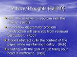 advice thoughts fall 10