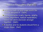 advice thoughts fall 1028
