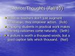 advice thoughts fall 1029