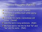 advice thoughts fall 125