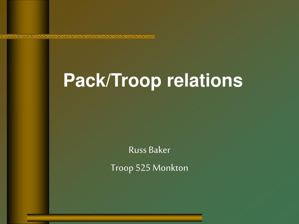 Pack/Troop relations