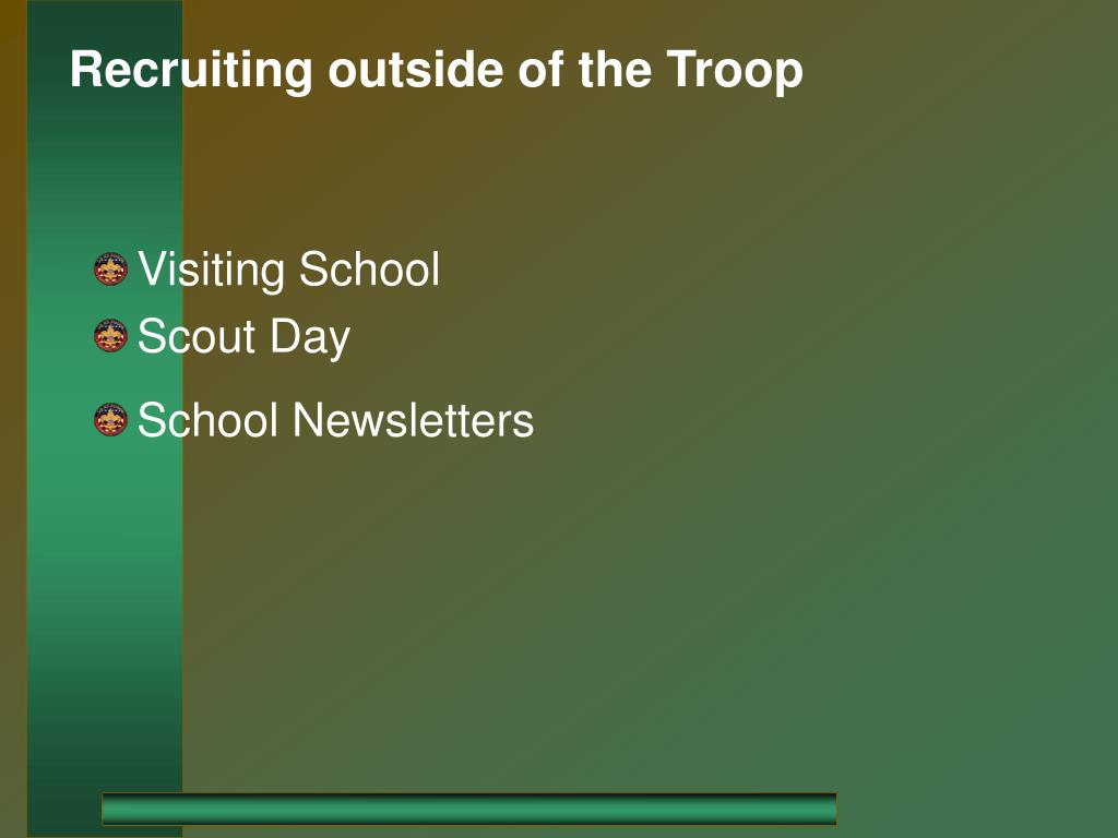 Recruiting outside of the Troop