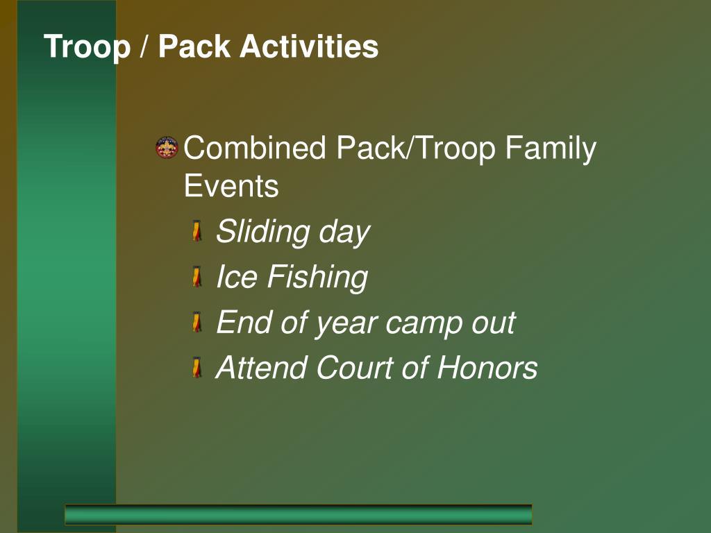 Troop / Pack Activities