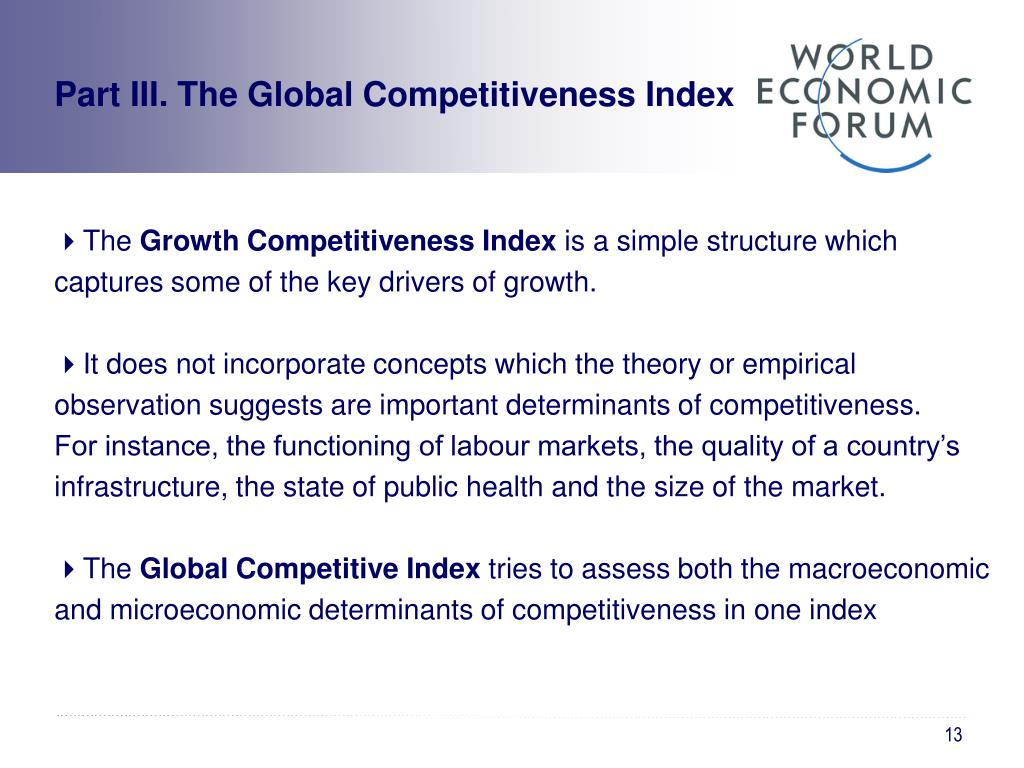 Part III. The Global Competitiveness Index