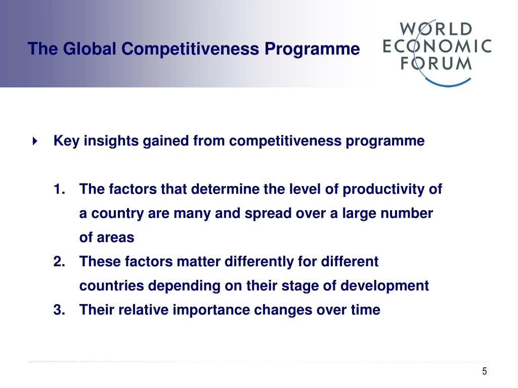 The Global Competitiveness Programme