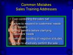 common mistakes sales training addresses15