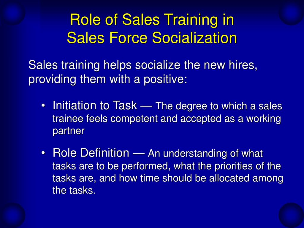 Role of Sales Training in